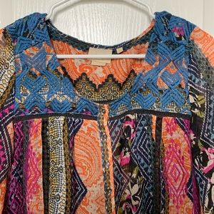 Vanessa Virginia colorful top from Anthropologie